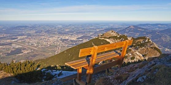 Der Ausblick vom 1.972 Meter hohen Hausberg der Salzburger: Dem Untersberg.