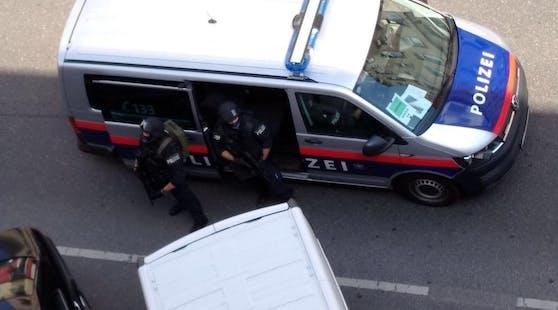 WEGA-Zugriff bei einem Polizeieinsatz.