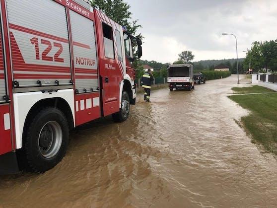 Heftige Unwetter in NÖ führt zu Überschwemmungen im Bezirk Tulln. Archivbild