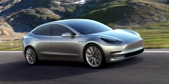 Angekündigt als Elektroauto für die Massen: Das neue Tesla-Model 3