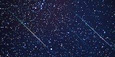 Es regnet wieder Sternschnuppen vom Himmel