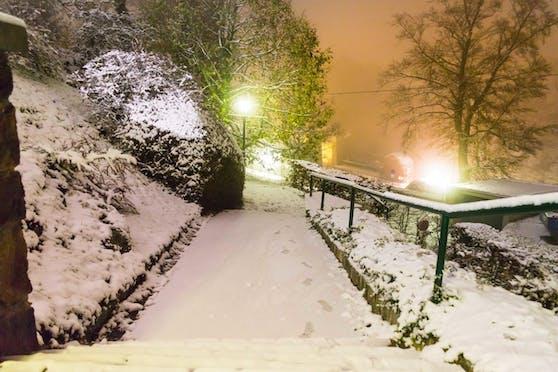 Schnee am Linzer Pöstlingberg. Heuer dürfte er ein bisschen zu spät fallen.