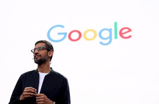 Google-CEO Sundar Pichai kündigt dieEntwicklerkonferenz I/O an.