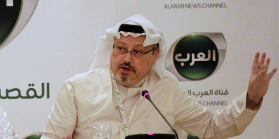 Saudi-Arabien hat am 19. Oktober den Tod des seit Wochen verschwundenen Journalisten Jamal Khashoggi bestätigt. Im Bild: Khashoggi während einer Konferenz in Manama, Bahrein im Februar 2015.