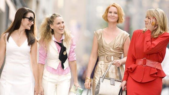 """Kim Cattrall (re.) will im Gegensatz zu (v.li.) Kristin Davis, Sarah Jessica Parker und Cynthia Nixon nicht mehr in ihre """"Sex and the City""""-Paraderolle schlüpfen."""