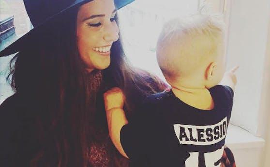 Sarah Lombardi und Sohn Alessio