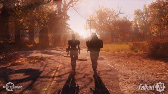 """Klar wird auch schnell: Jeder Mensch, den man in """"Fallout 76"""" trifft, ist ein realer anderer Spieler."""