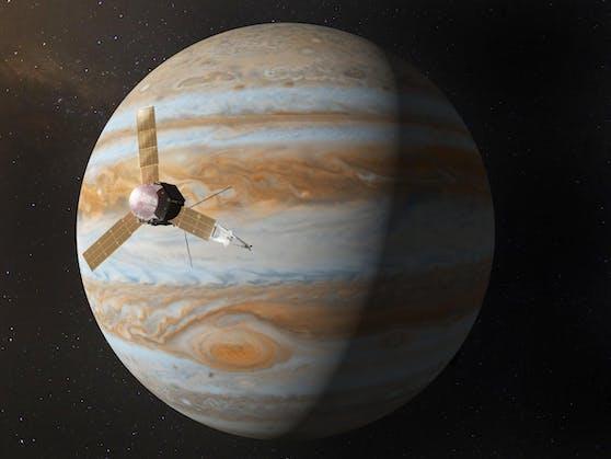 """Nach fast fünfjähriger Reise durch das Sonnensystem ist die unbemannte NASA-Sonde """"Juno"""" im Juli 2016 beim Jupiter angekommen."""