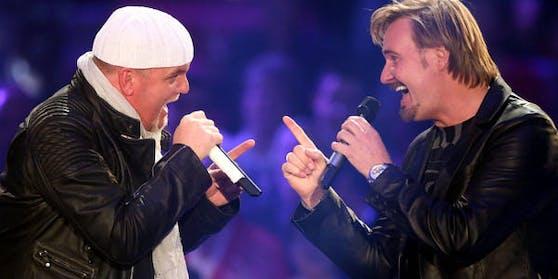 """Sänger Nik P. und DJ Ötzi - ihr """"Stern"""" verkaufte sich allein in Deutschland über 1,2 Millionen Mal."""