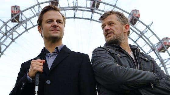 """""""Blind ermittelt""""-Team Philipp Hochmair (links) und Andreas Guenther"""