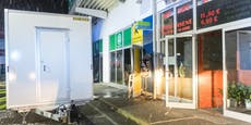 Polizei sucht nach Bankomat-Coup dunklen Fiat 500