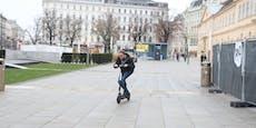 Wiener (24) baut mit aufgemotztem E-Scooter Unfall