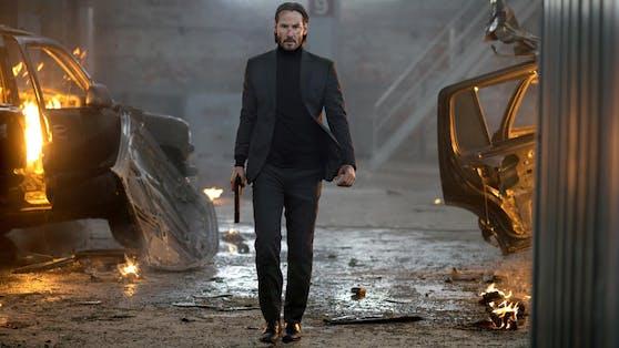 """Ein Mann, der kein Erbarmen kennt: Actionstar Keanu Reeves in """"John Wick""""."""