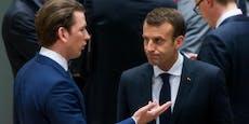 "Macron lästert über Kurz: ""Er hört nicht zu!"""