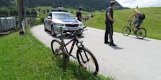 Rad von Alko-Lenker demoliert Polizei-Wagen