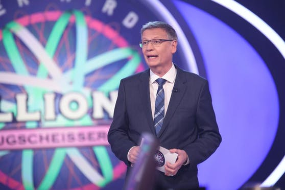 """Moderator Günther Jauch bei der deutschen Version unserer beliebten """"Millionenshow"""""""