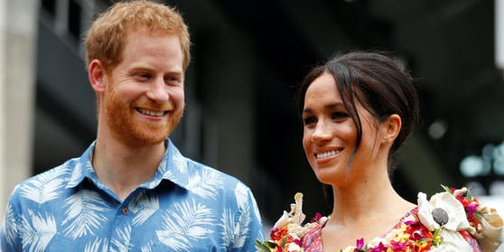 Meghan und Harry auf den Fidschi Inseln