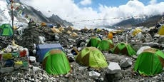 Auf dem Mount Everest steigen die Corona-Zahlen an
