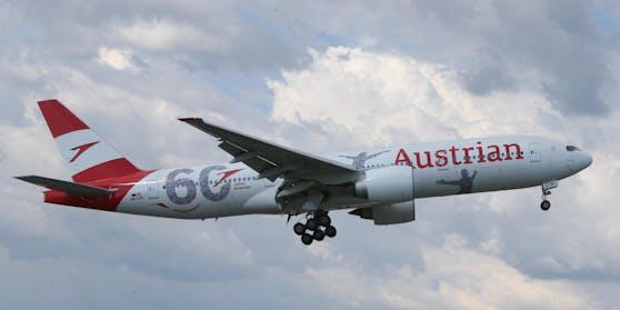 Die neue Boeing 777 ist am Dienstag in Wien eingetroffen.