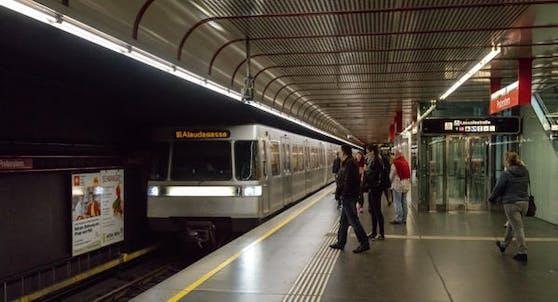 Eine U-Bahn in Wien
