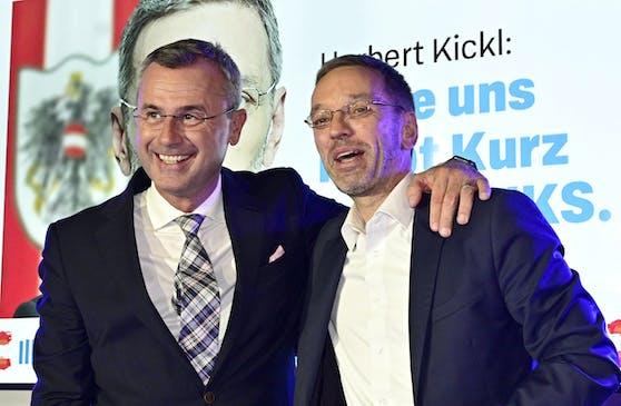 FPÖ-Chef Norbert Hofer und Herbert Kickl bilden (noch) eine Art Doppelspitze.