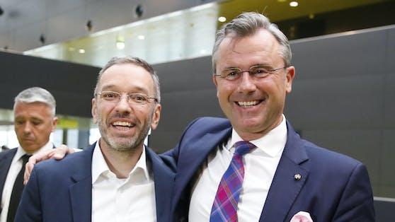 """""""Gestatten Sie mir den Vergleich: Das ist wie beim Twinni-Eis"""", sagt Herbert Kickl über seine Beziehung zu Norbert Hofer."""