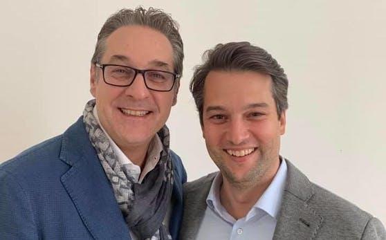 Ein Bild aus besseren Tagen: Heinz-Christian Strache und Dominik Nepp.