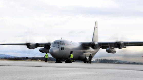 Die C-130 Hercules des österreichischen Bundesheeres (Symbolfoto)