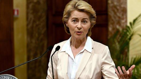 Die EU-Kommissionspräsidentin Ursula von der Leyen begibt sich bis morgen in Selbstisolation.