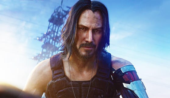 "Hollywood-Star Keanu Reeves spielt Johnny Silverhand in ""Cyberpunk 2077""."