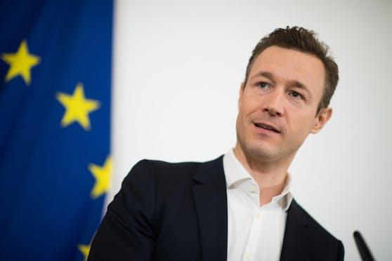Finanzminister Gernot Blümel führt die Neue Volkspartei in die Wien-Wahl.