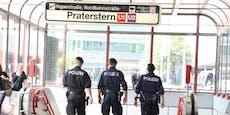 Polizisten entwaffnen Messermann am Praterstern