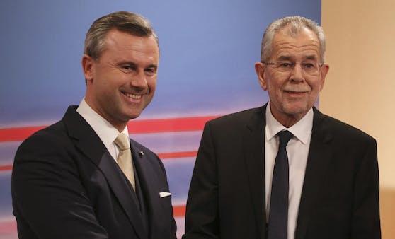 Van der Bellen gewann 2016 die Bundespräsidentschaftswahl, Hofer nicht.