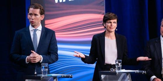 Die Spitzenkandidaten Sebastian Kurz (ÖVP) und Pamela Rendi-Wagner (SPÖ)