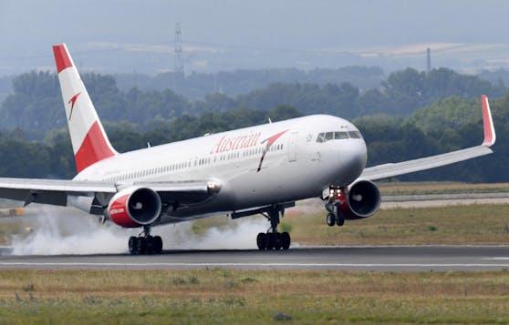 An Bord eines AUA-Fliegers gab es am Freitag eine angespannte Stimmung.
