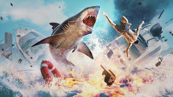 Im Action-RPG Maneater schlüpft der Spieler in die ungewöhnliche Rolle eines Hais in den Gewässern der Golfküste.