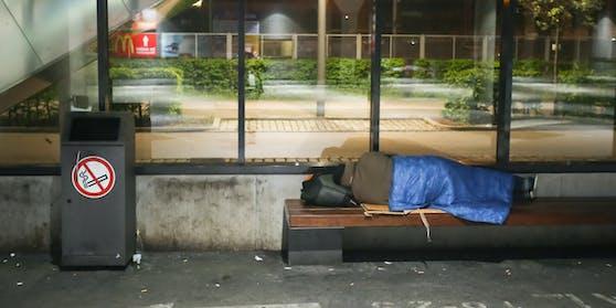 Symbolfoto eines Obdachlosen.