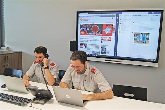 Der oberösterreichische Landesfeuerwehrverband bei der Arbeit.