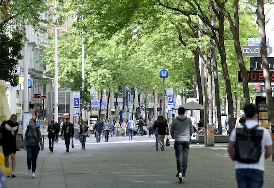 Wiener auf der Mariahilfer Straße. Symbolbild.