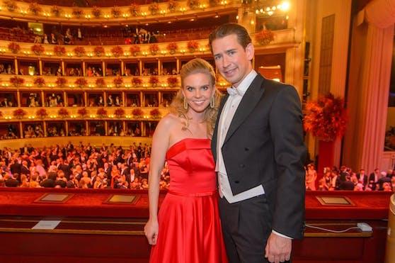 Sebastian Kurz und Susanne Thier 2019 am Opernball