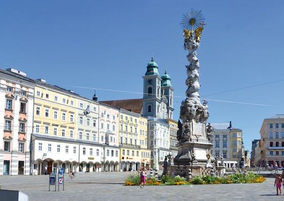 Der Linzer Hauptplatz soll zu einem Wald werden.