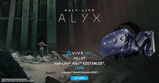 Das HTC Vive Pro Full Kit gibt es jetzt mit Half-Life: Alyx.