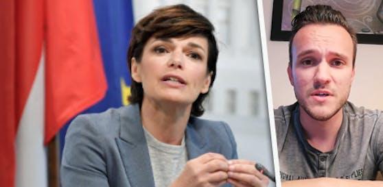 SP-Gemeinderat Patrick Pfeifer (r.) vs. Rendi-Wagner