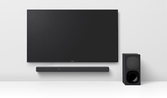 Die 3.1-Kanal-Soundbar HT-G700 mit Dolby Atmos und DTS:X bietet kraftvollen Surround Sound und sorgt für klar verständliche Dialoge - für unvergessliche Filmmomente.Die neue Soundbar macht den Ton mit bis zu 7.1.2-Kanal-Surround-Sound aus allen Richtungen erlebbar.