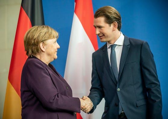 Sebastian Kurz und Angela Merkel einigten sich.