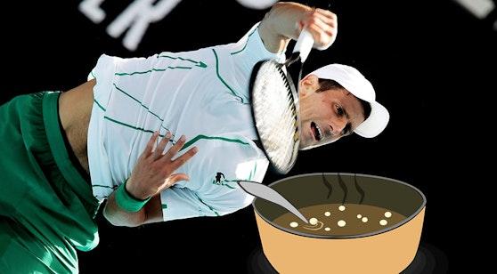 Novak Djokovic und eine Suppe