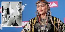 Madonna zeigt sich in schwarzer Spitzen-Unterwäsche