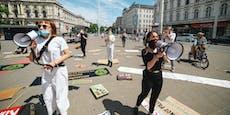 Wiener Klima-Camp endet mit Schildermeer