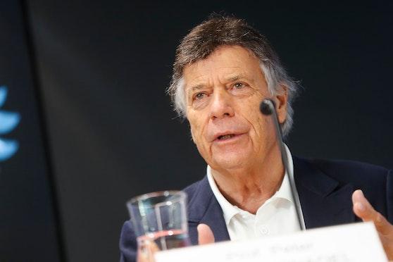 Peter Schröcksnadel am Mittwoch mit ernster Miene.