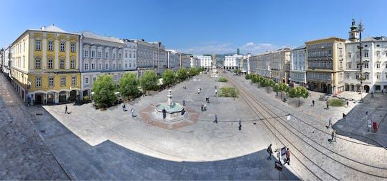Am Linzer Hauptplatz sollen schon bald Bäume stehen.